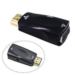 Bangcool HDMI to VGA Adapter 1080P Portable Mini HDMI to VGA