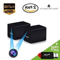 Hidden Spy Camera | 2 Pack | USB Charger | 1080P Full HD |Ha