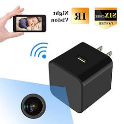 HD 1080P Hidden Spy Camera USB Wall Charger Mini WIFI Home S