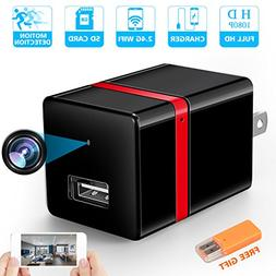 RZATU Hidden Camera WiFi HD 1080P Motion Detection USB Wall