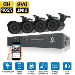 HODELY 4CH 1080N 5in1 DVR 720P Waterproof IR-CUT HD Camera C