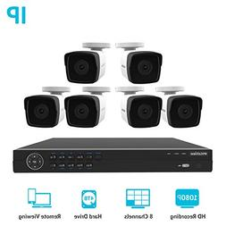LaView 1080P HD IP 6 Camera Security System 8 Channel PoE 10