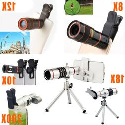 For iPhone X 8 7 6S 8X 10X 12X 18X 200X Zoom HD Camera Lens