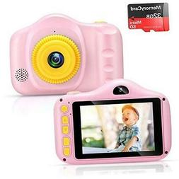 Kids Camera for Girls Toys 3.5Inch 1080P HD Dual Lens Childr