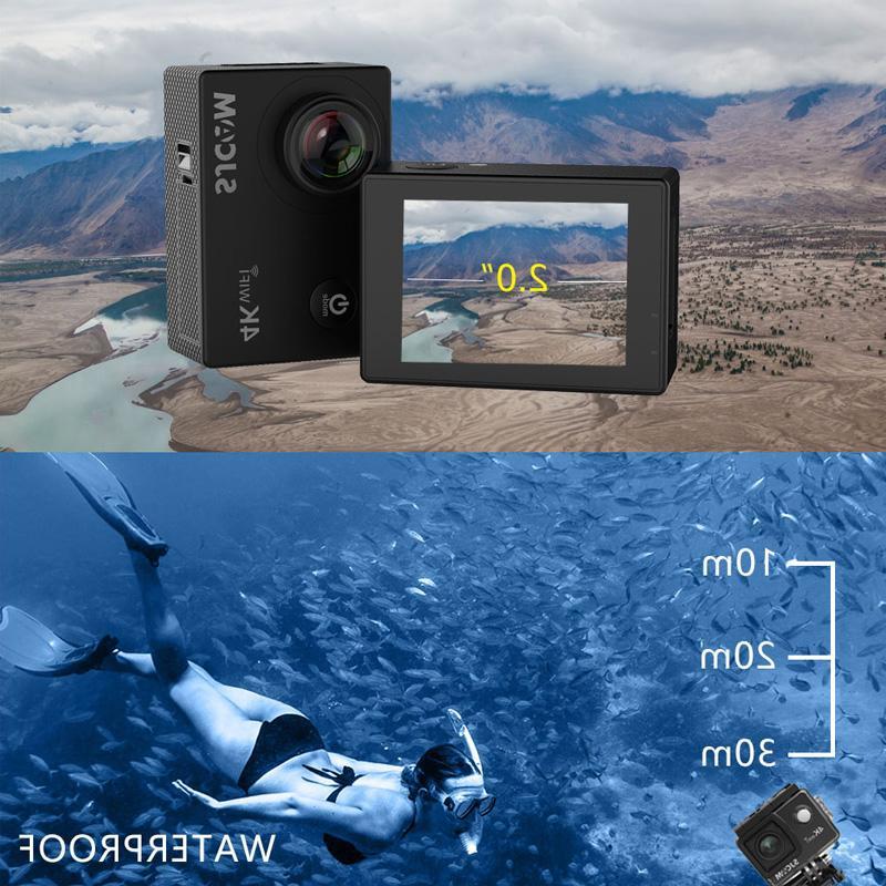 100% Original SJCAM SJ4000 AIR Action <font><b>HD</b></font> Allwinner 4K WIFI Helmet Waterproof <font><b>Camera</b></font>