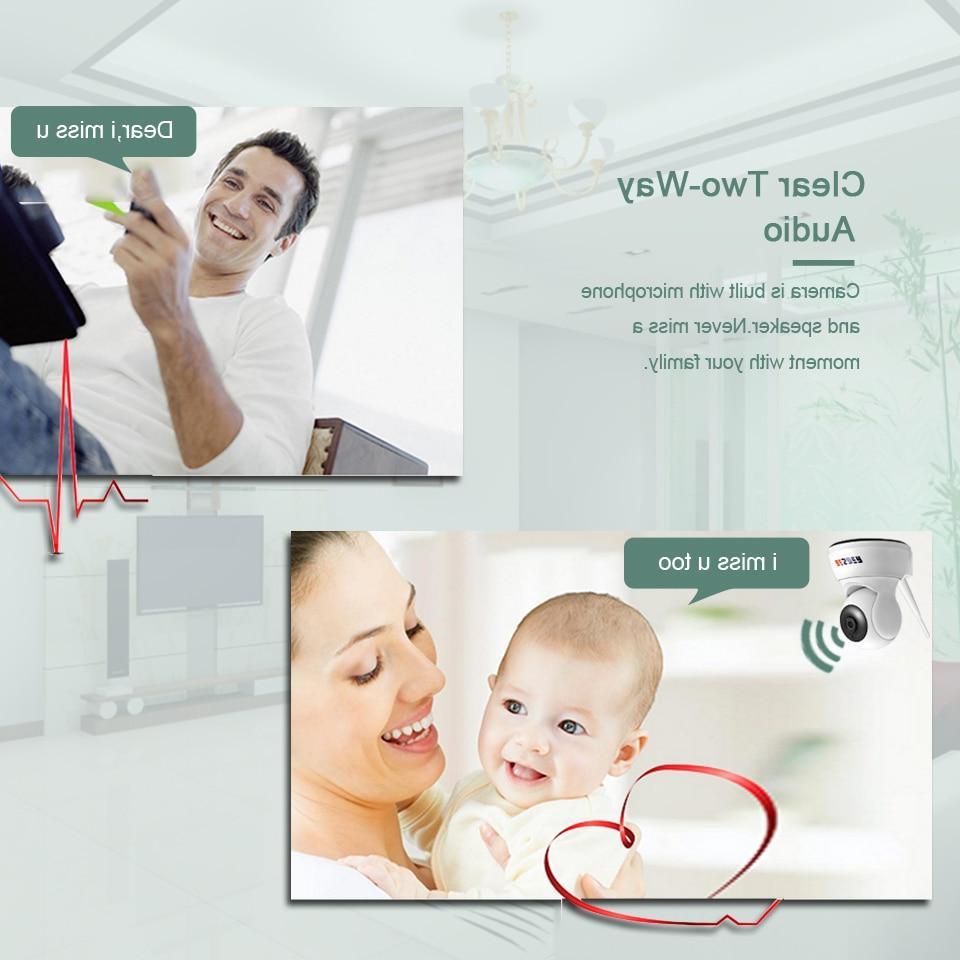 BESDER 1080P Security <font><b>Camera</b></font> Way Audio <font><b>Camera</b></font> Night Vision WiFi iCsee