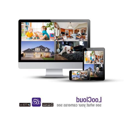 Loocam HD 8CH CCTV Camera System HDD App