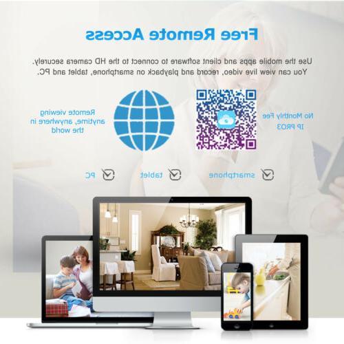 1080P Cameras Wireless Home CCTV Hard