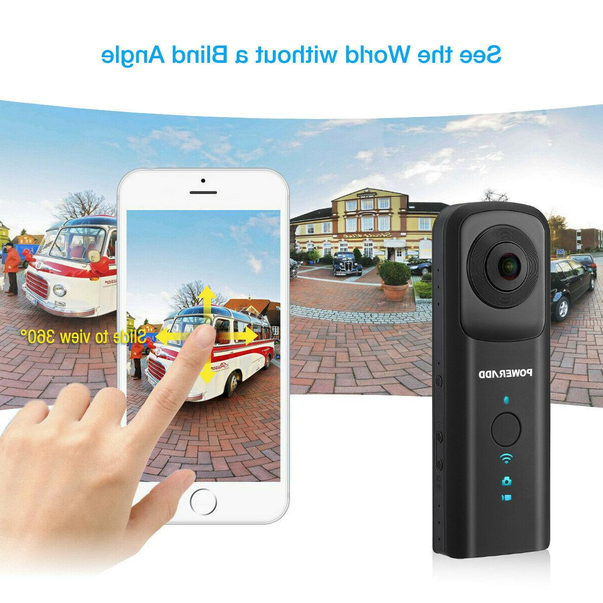 360° WiFi Video Action Dual Fisheye Lens Panoramic Camcorder