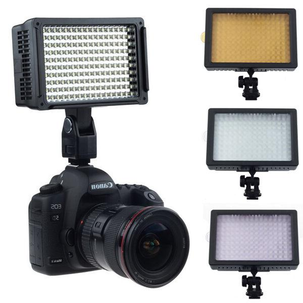 160 LED Video Light Hot Shoe Lamp Photo Studio Lighting for
