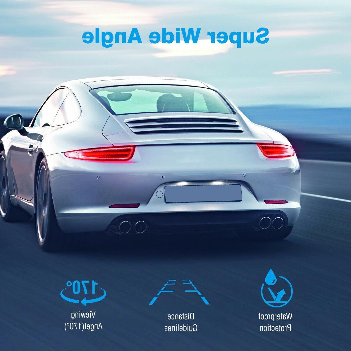 170º Car Rear View Reverse Camera Waterproof Night HD