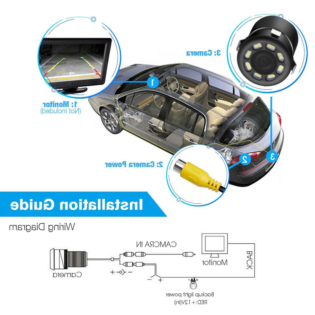 170º CMOS Car View Reverse Camera Waterproof HD