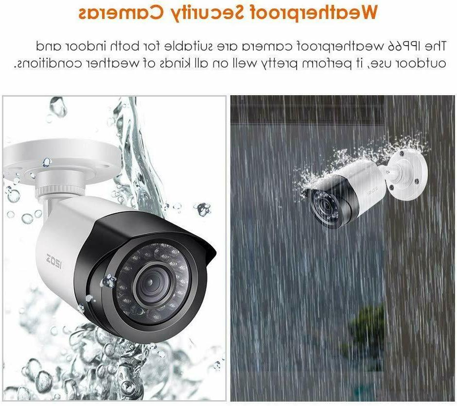 ZOSI 2.0 Megapixel HD 1080P Security Day Night Waterproof