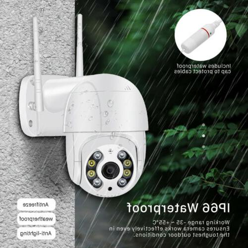 2 1080P IP Camera Outdoor WiFi PTZ CCTV Smart IR