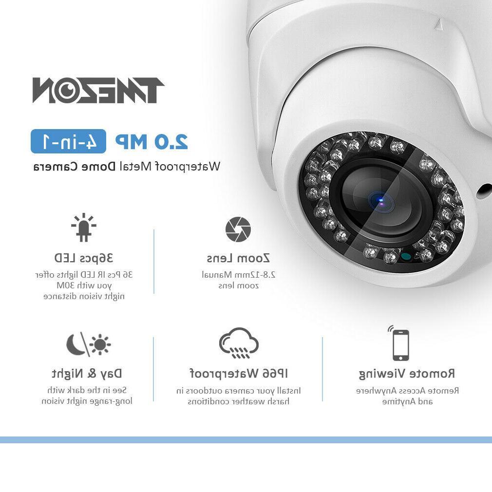 2MP 1080P CCTV Camera Security HD Waterproof IR Night