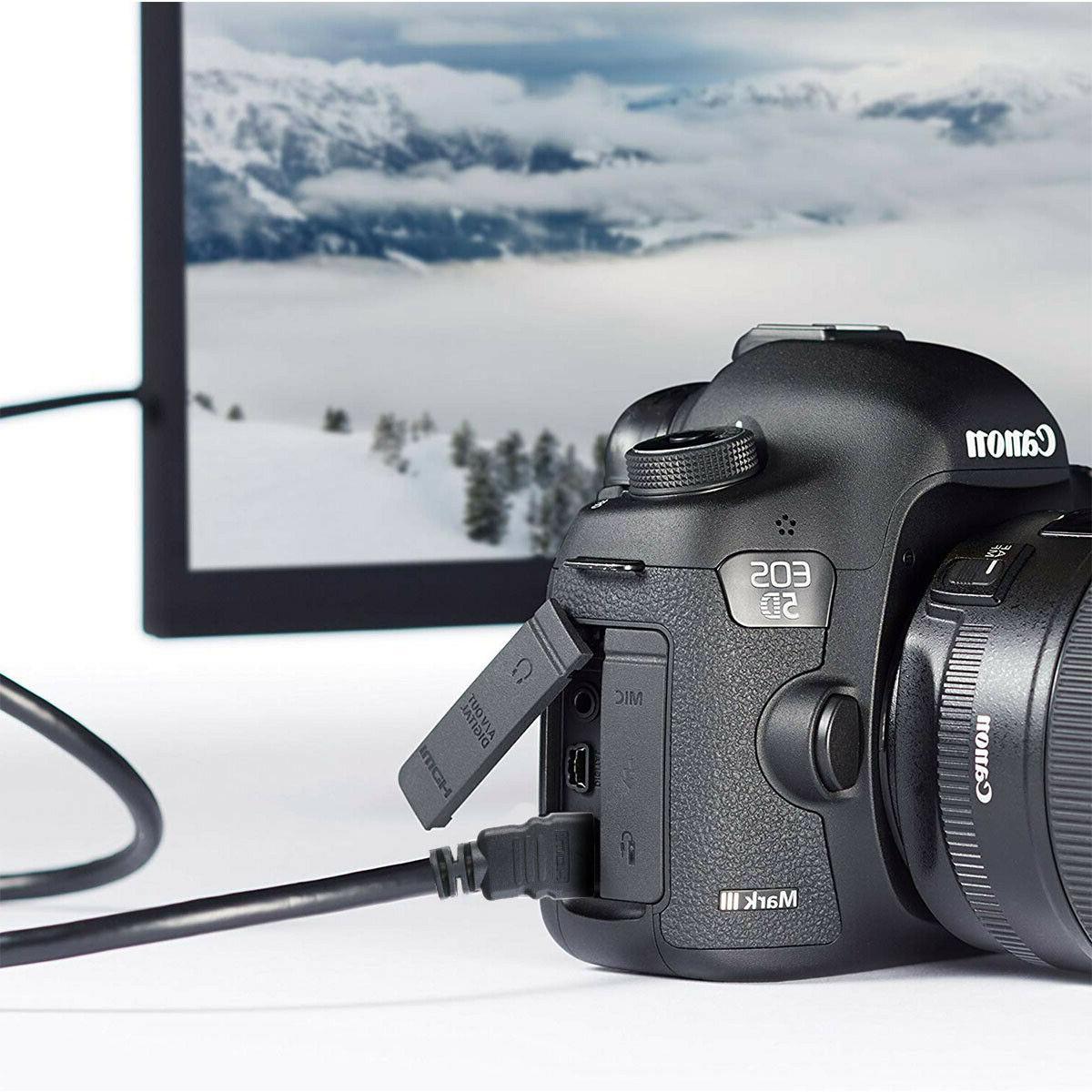 2pcs Mini HDMI for HDTVs Cameras Cable