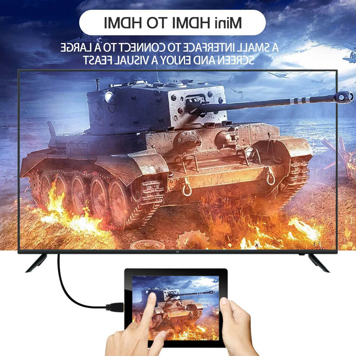 Mini HDMI for HDTVs Cameras HD Cable
