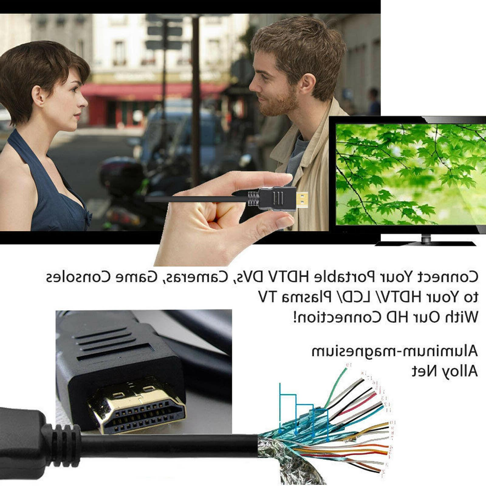 2pcs Mini Connectors HDTVs Cable