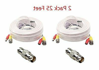2x25ft bnc power extension cable