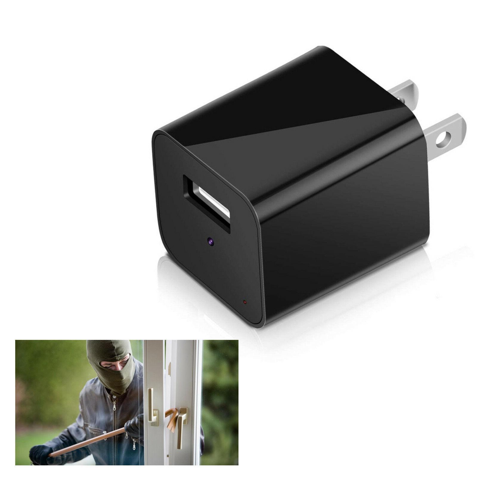 32GB USB Mini SPY Motion Hidden Wall Charger Camera US FULL HD