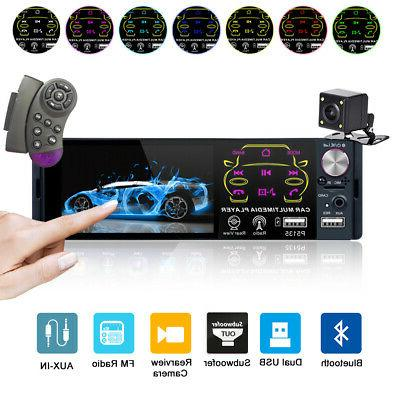 "4.1"" Car Stereo Radio MP5 Player In-Dash Bluetooth HD Camera"