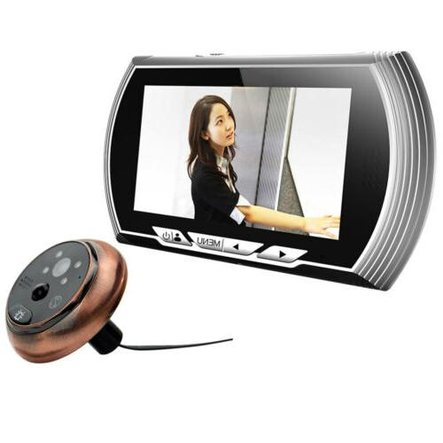 4 3 hd visual monitor door peephole