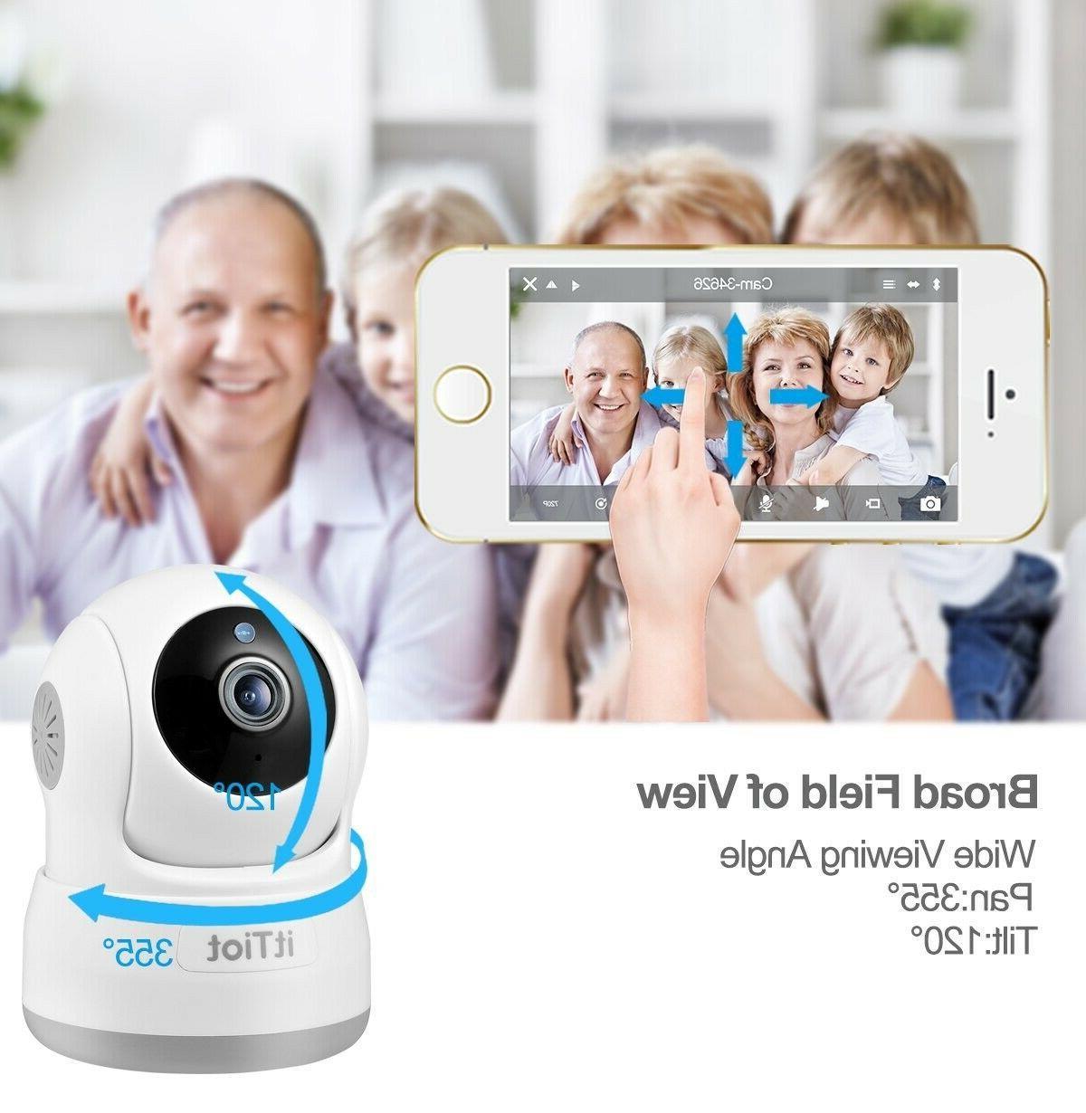4 Cameras View App HD Pan/Tilt/Zoom Wireless IP Indoor Camera