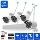 4-Channel WIFI 1080P HD NVR Wireless IP CCTV IR-CUT Camera H