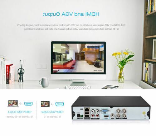4CH CCTV Outdoor IR-CUT HD Camera Security Video