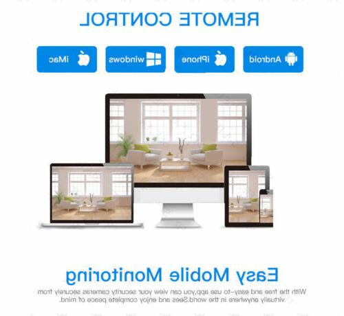 4CH Outdoor Camera Home Security Android