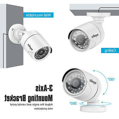 SANNCE 4CH 1080P DVR CCTV Security Cameras 1TB HDD