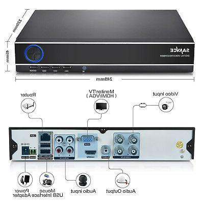 SANNCE DVR IR HD CCTV Cameras 1TB