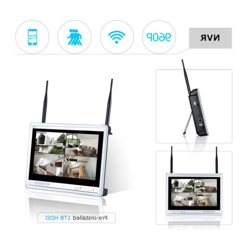 4CH Home Security Cameras With NVR kits