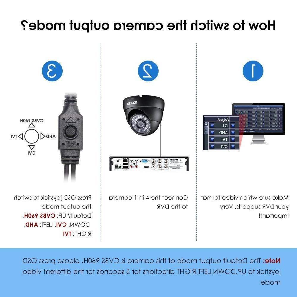4in1 Dome Camara Seguridad HD para Casas Distancia