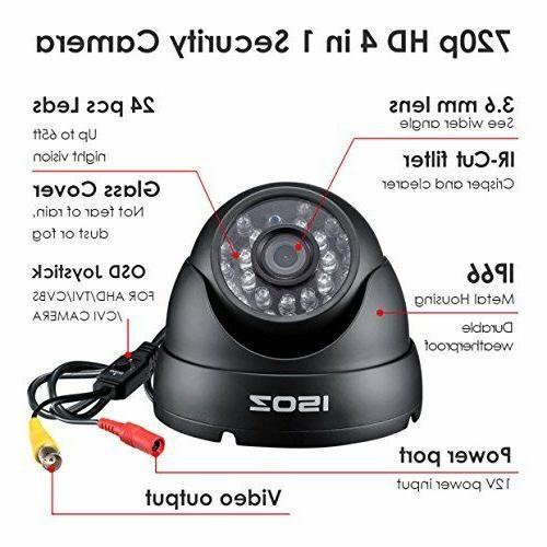 4in1 Dome De Seguridad HD CAM Casas Vision Distancia