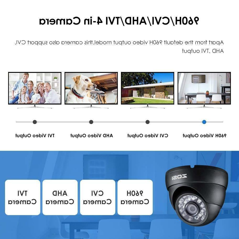 4in1 De Seguridad HD CAM Casas 65ft Distancia
