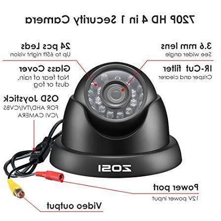 4in1 Dome Camara Seguridad CAM Casas 65ft Distancia