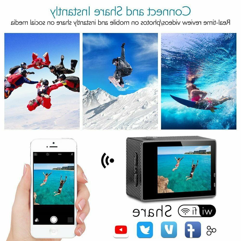 4K Camcorder Ultra Camera Waterproof Bundle