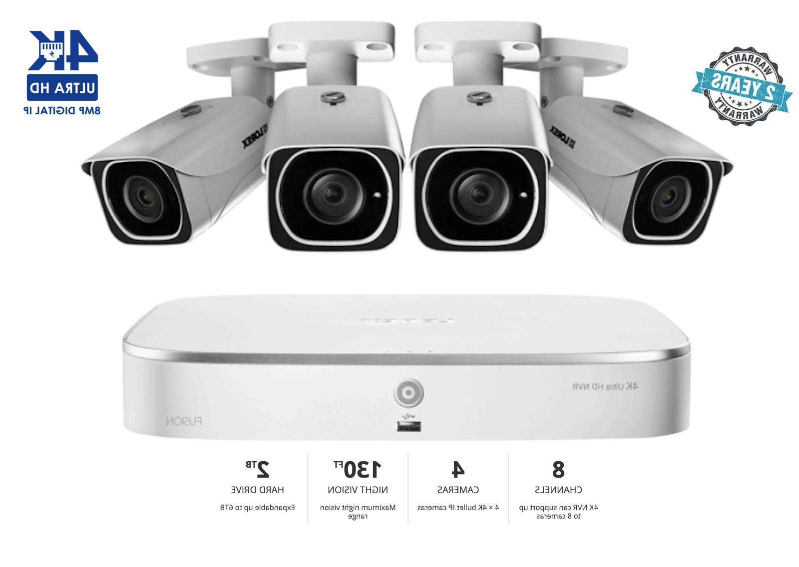 4k ip camera system with 4 ultra