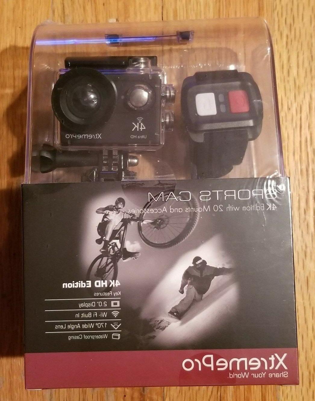 XtremePro 4K Camera Bundle Wireless Wrist Remote 20 Accessories