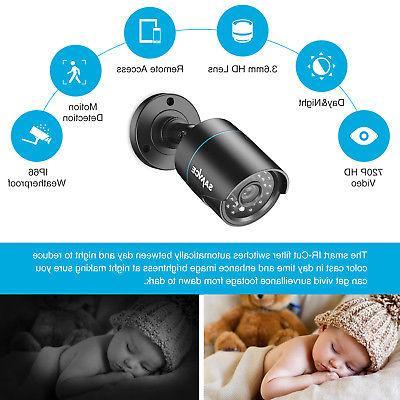 SANNCE 720P 1500TVL Outdoor Security CCTV IR Vision