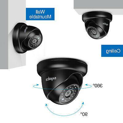 SANNCE Indoor Outdoor Dome CCTV Security IR Black
