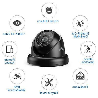 SANNCE 4x Outdoor IP66 CCTV Black