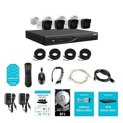 4x 8.3MP H.265 cameras 8 Channel Security