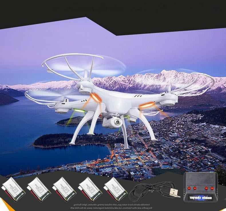 5 batteries x5sw v3 rc quadcopter drone