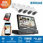 "SANNCE 5in1 10"" LCD Monitor 4CH P2P DVR 720P HD-TVI Security"