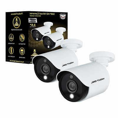 Night Owl Wired Add-on Cameras Built-in Spotlights, 2-pack