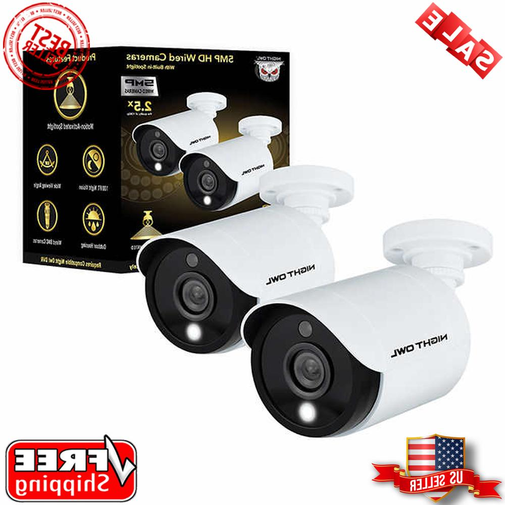 Night Owl 5MP HD Wired Built-in Spotlights