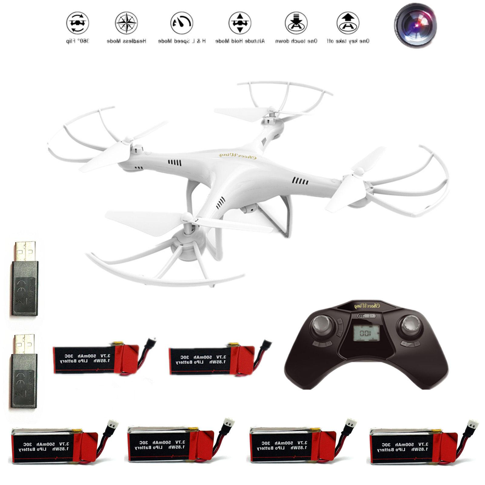 6 Batteries Cheerwing RC Quadcopter Drone 720P USB