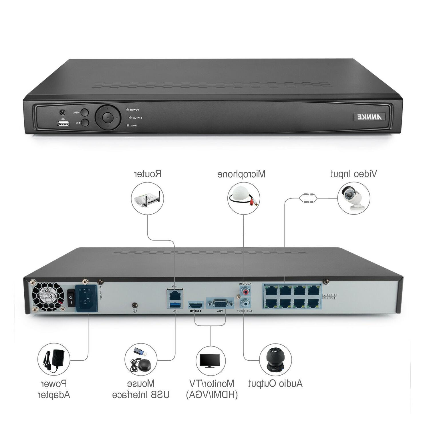 ANNKE 6MP NVR 1080P Bullet Home Security IP Camera System 0-4TB